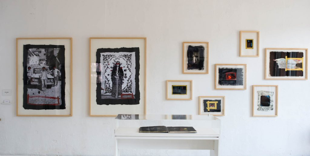 artwork photography exhibition oak frames with art in it